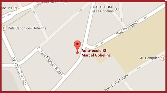 Auto-école situé dans le 13 ème arrondissement de Paris à proximité de jussieu